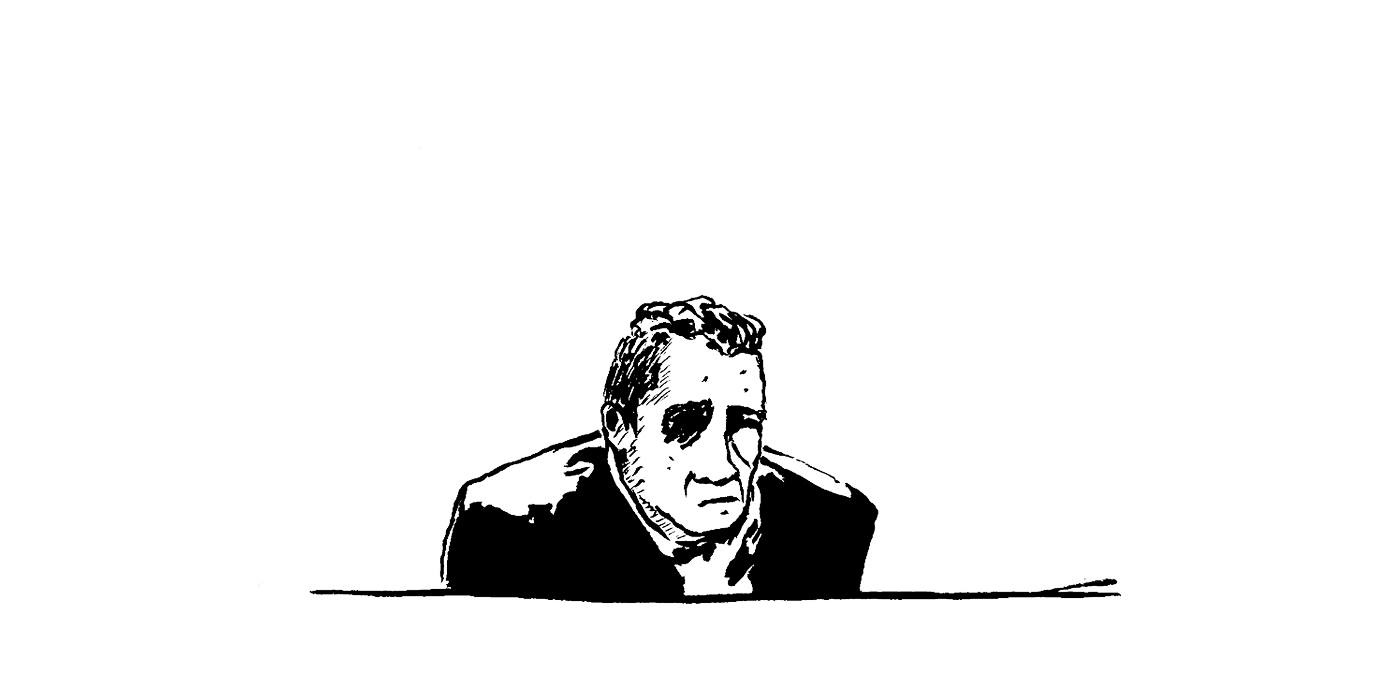 Christophe dans le box. (Illustration : Pierre Budet)