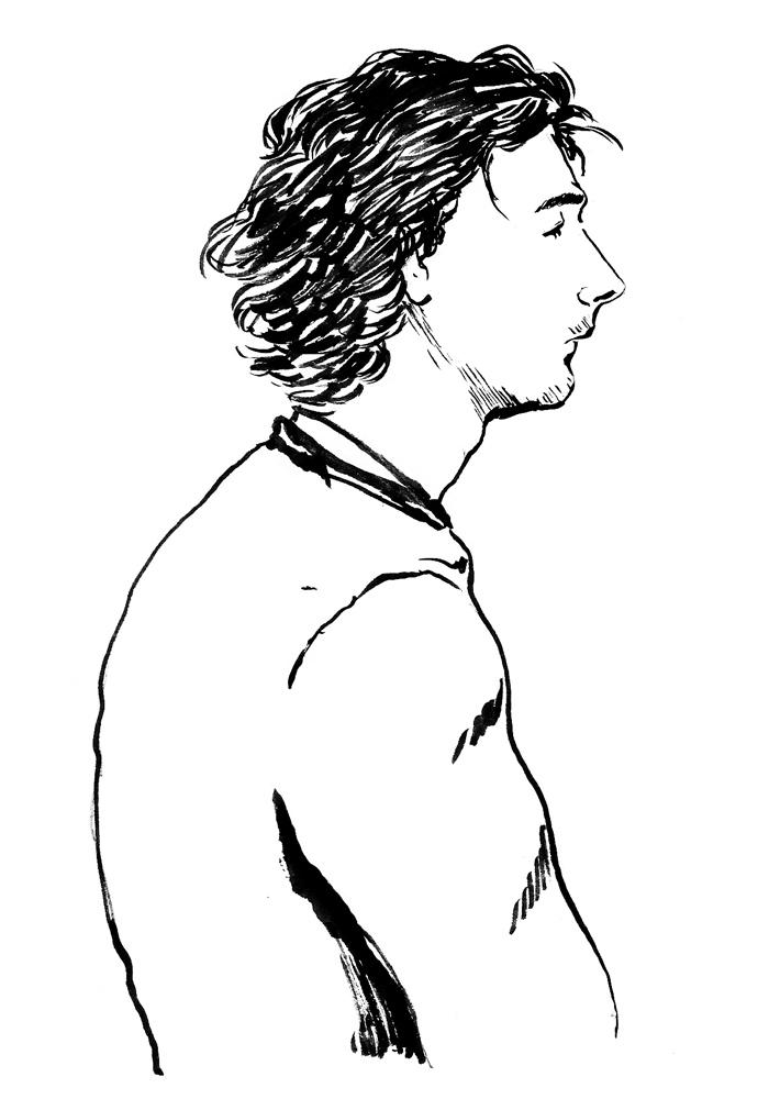 Pierre-Nicolas devant le tribunal. (Illustration: Pierre Budet)
