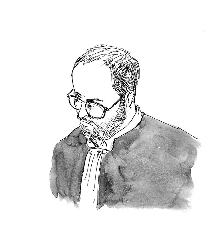 François Lavallière, le président. (Illustration: Pierre Budet)