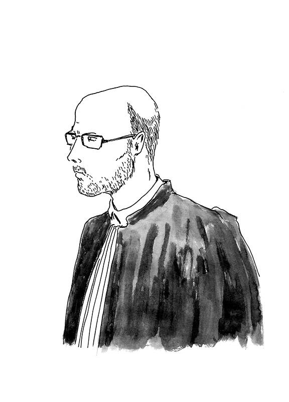 Me Olivier Pacheu, l'avocat de Pierre. (Illustration: Pierre Budet)