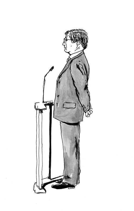 """Pierre, droit comme un """"i"""". (Illustration: Pierre Budet)"""