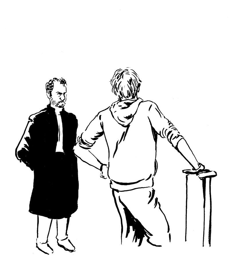 Me Vincent Fillola, l'un des deux avocats de Gaspard Glanz. (Illustration: Pierre Budet)