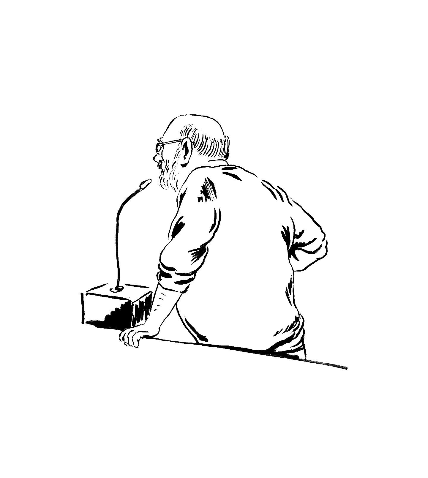 Jean raconte son parcours. (Illustration: Pierre Budet)