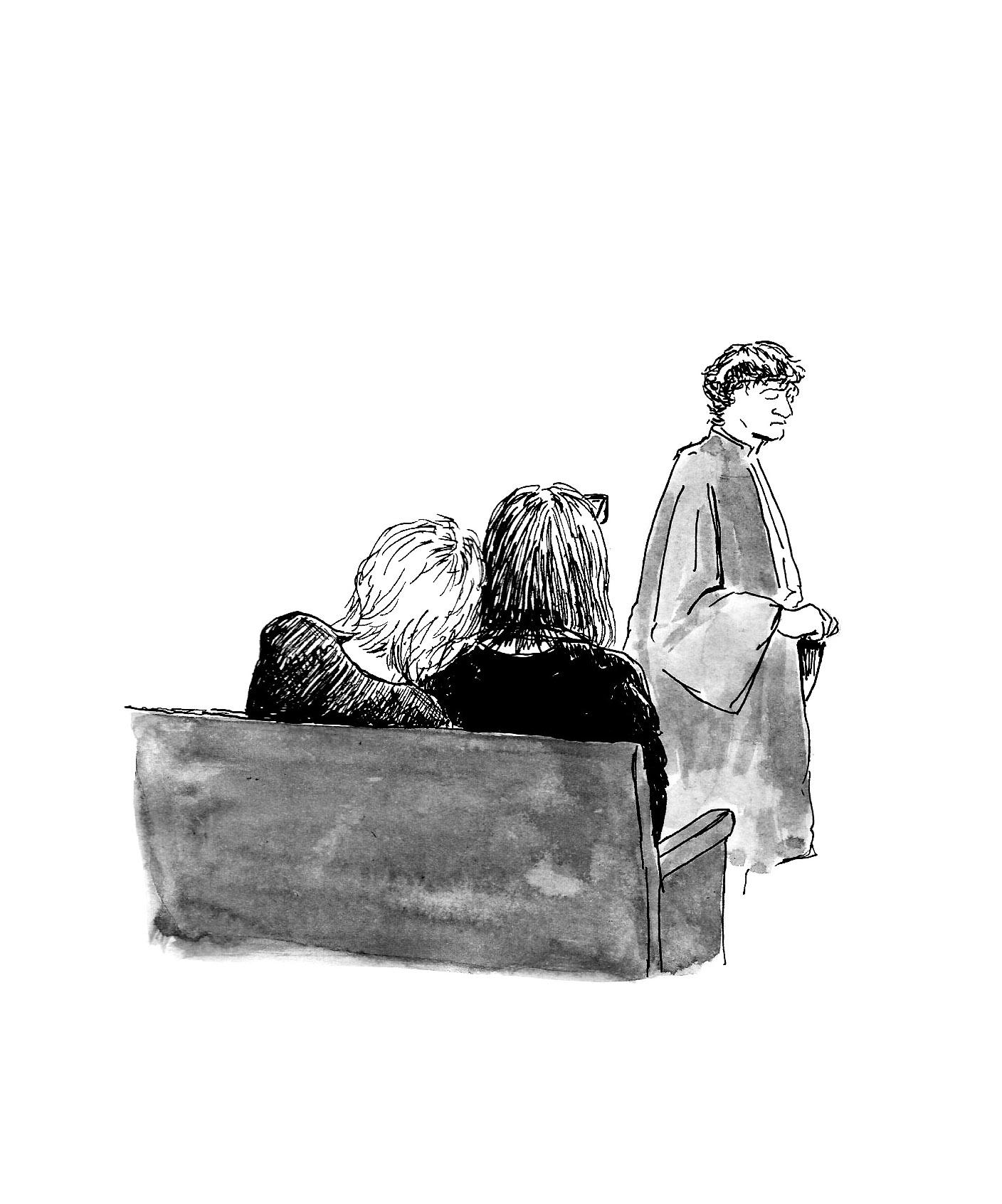 Deux des trois filles de Jean, sur le banc des victimes, près de leur avocat Me Tessier.