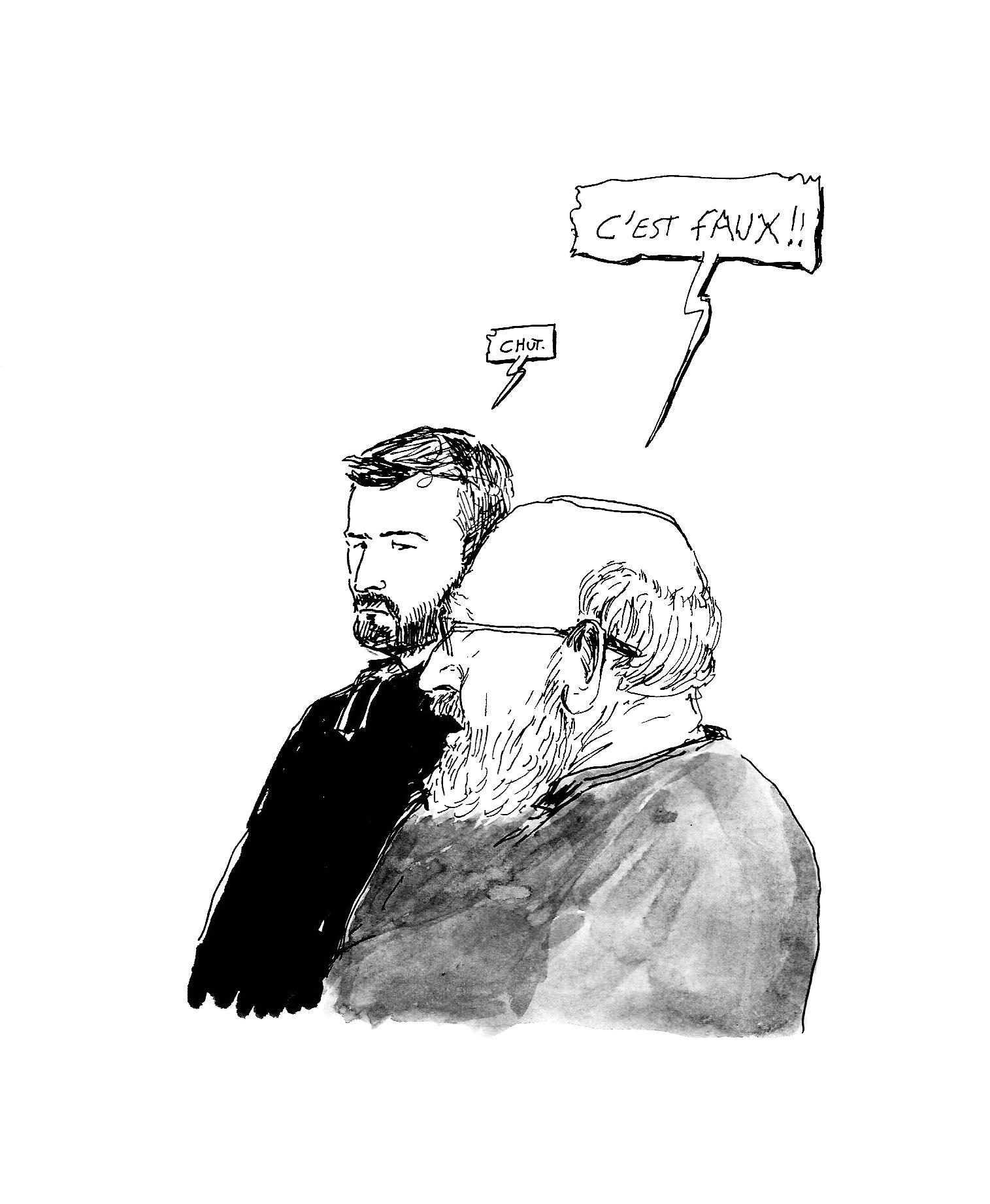 Jean s'énerve depuis son box. (Illustration: Pierre Budet)