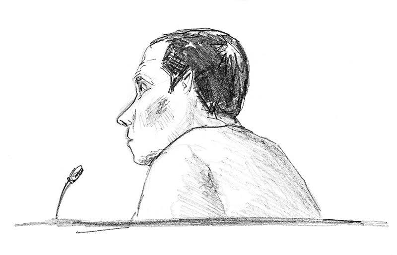 Nicolas Le Bouch lors de son procès