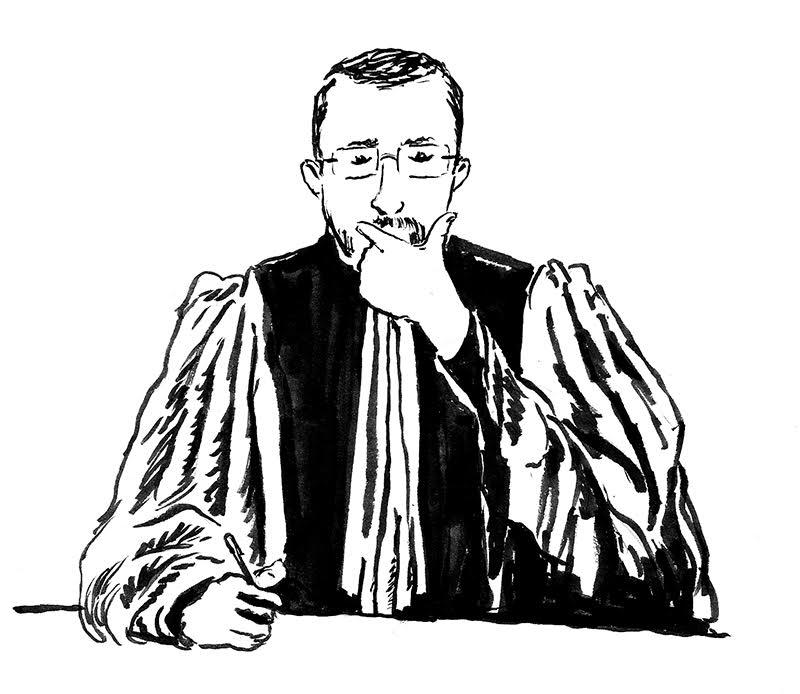 Frédéric Digne, le président de la cour