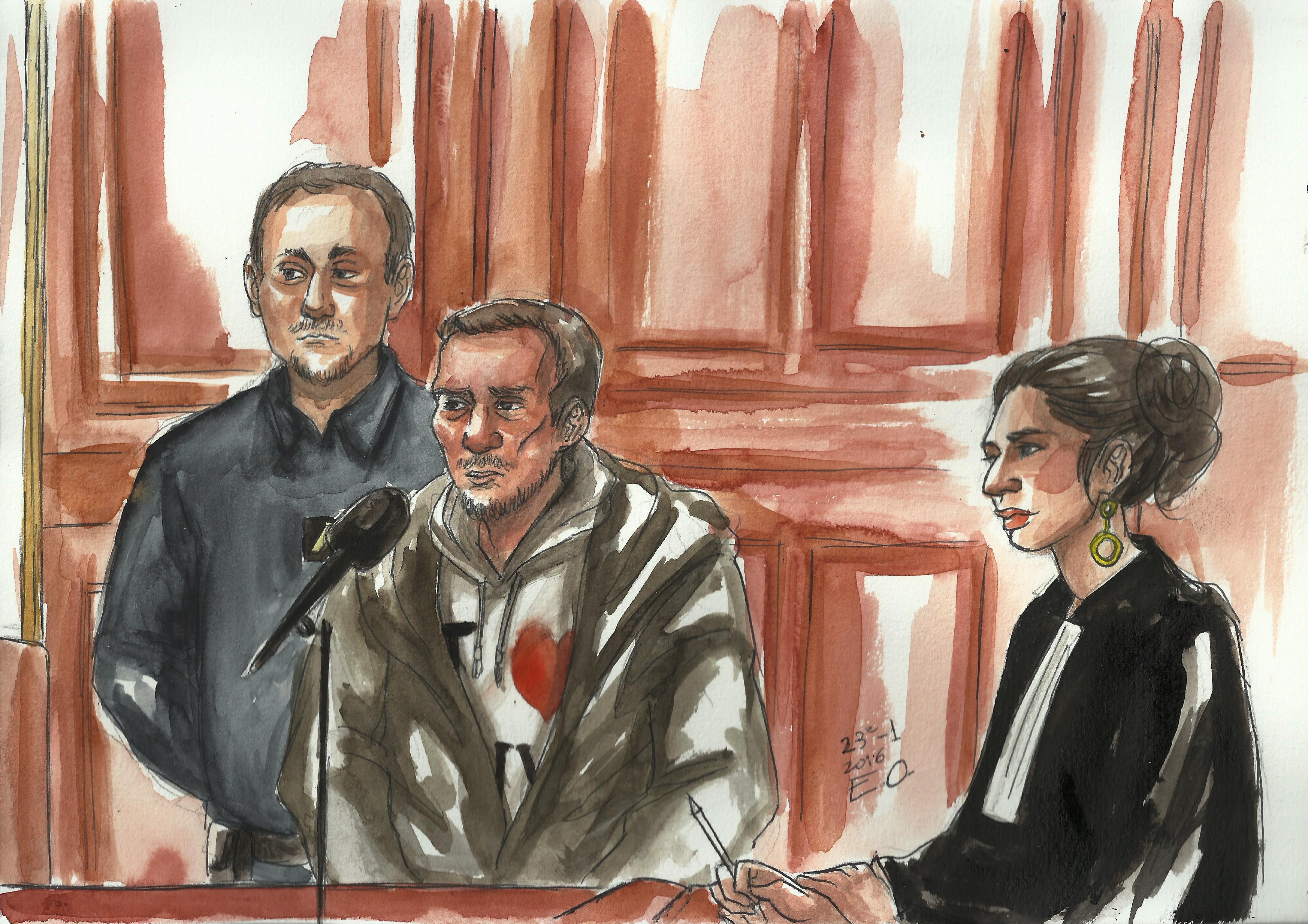 Le prévenu et son avocate